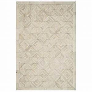 tapis de luxe beige en peau de vache cuir authentique With tapis de gym avec entretien canapé cuir beige