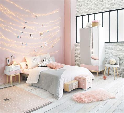 pink white  grey girls bedroom maisons du monde