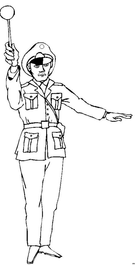 Polizist Regelt Verkehr 3 Ausmalbild & Malvorlage (sonstiges