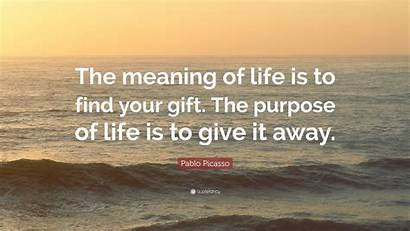 Picasso Pablo Meaning Purpose Gift Quote Give
