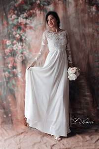 items similar to affordable fitted long sleeved lace With comfortable wedding dress