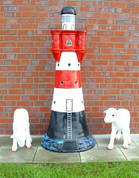 leuchtturm roter sand riesig 172 cm f 252 r den garten mit licht