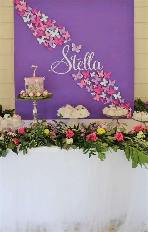 Garden Decoration For Birthday by Best 25 Butterfly 1st Birthday Ideas On