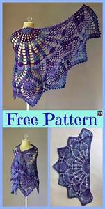 10  Pretty Crocheted Shawls