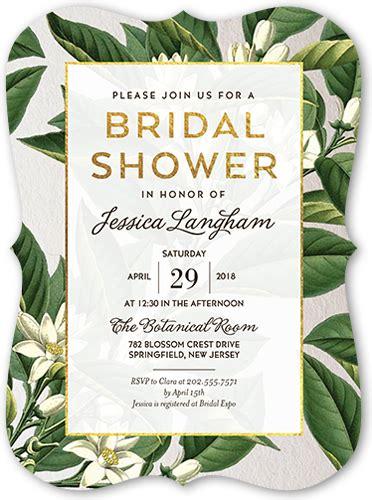 botanical dream  bridal shower invitation card shutterfly