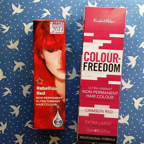 custom shade red hair  colour freedom crimson red