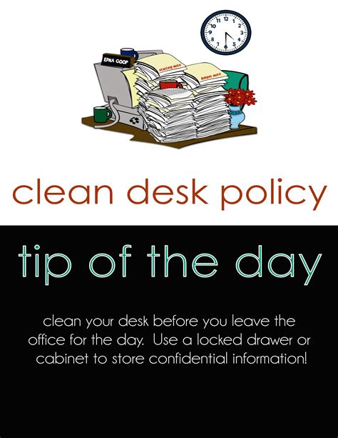 sle clean desk policy information management month april 2017 office of the