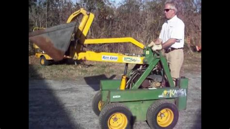 kanga mini skid steer loader youtube