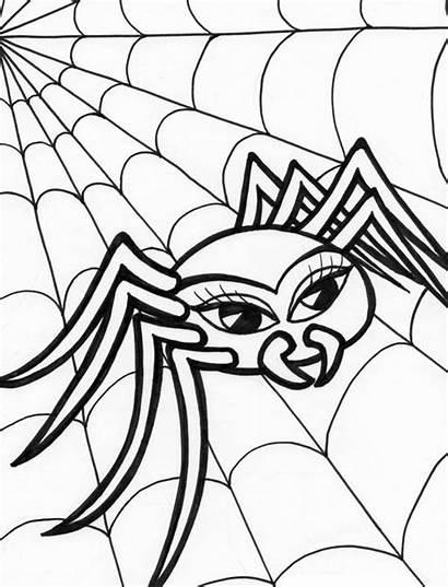 Spider Coloring Web Walking Tarantula Hideous Colorluna