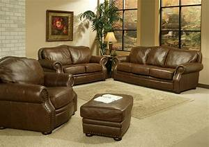 Leather Living Room Furniture. Brown Leather Sofascream ...