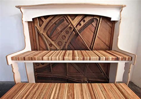 Vintage Piano Upcycled Into Desk By Monkwood