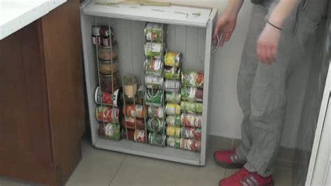 meuble cuisine caravane comment fabriquer un rangement pour ses boites de conserve