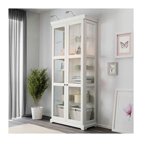 ikea liatorp vitrine liatorp vitrine blanc einrichten wohnen schrank vitrine und hemnes schrank