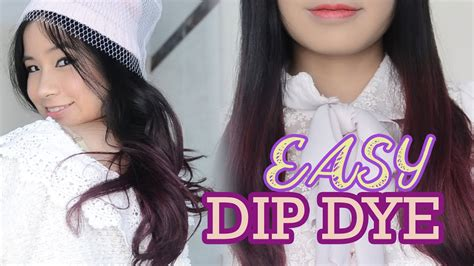 Purple Hair How To Easy Dip Dye Hair At Home Asian