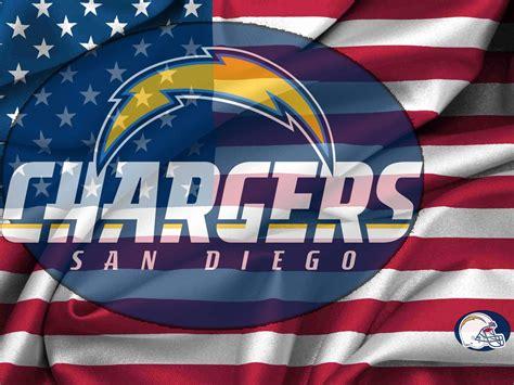 San Diego Chargers Logo Usa Flag Wavy Canvas 1600x1200