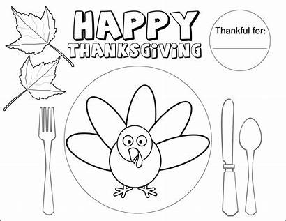 Thanksgiving Coloring Placemat Pages Printable Activity Table