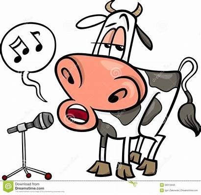 Singing Cartoon Cow Funny Character