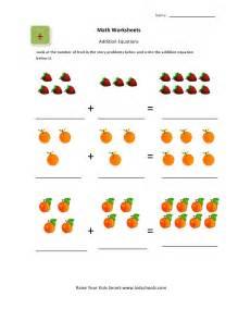 math worksheets pictures ukg basic picture addition worksheets for kidschoolz