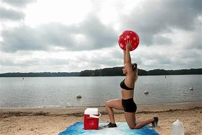 Ball Step Workout Lunge Cooler Popsugar Ups