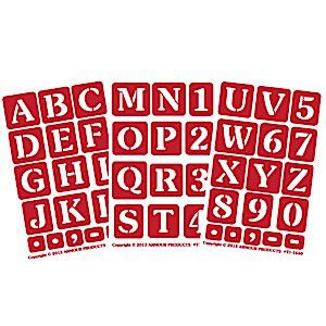 large alphabet letter number glass etching stencils