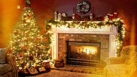fondos de pantalla interior arbol de navidad chimenea