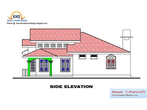 single floor house plan  elevation  sq ft