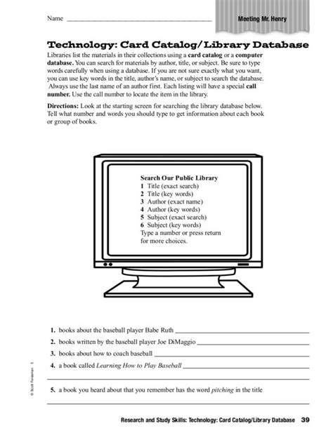 Printables Library Skills Worksheets Mywcct Thousands Of Printable Activities