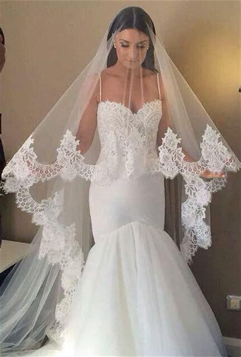 2019 New Beautiful Wedding Veil From Babyonlinedress Lace