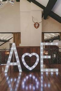 deer park hall wedding flowers relaxed country style With giant light up letters