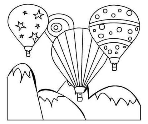 Balloon Fiesta Coloring Pages