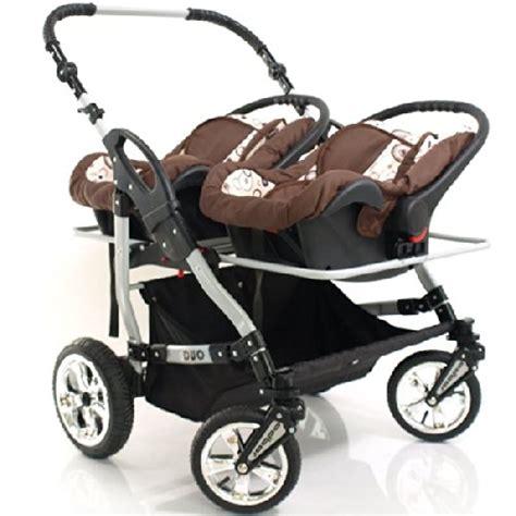 geschwisterwagen mit babyschale adbor duo 3in1 zwillingskinderwagen mit babyschalen silbernes gestell zwillingswagen