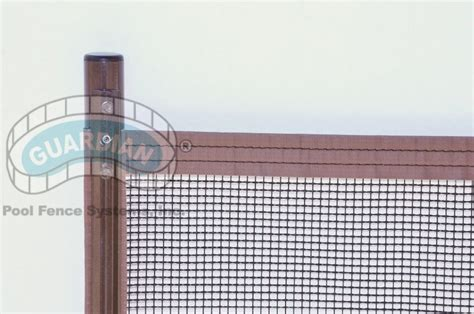 holes portable pool safety fence  holes  deck