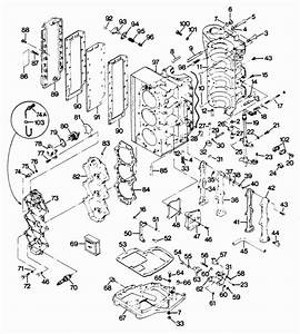 Force 85 Hp  1987  Powerhead Parts
