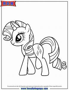 My Little Pony Coloring Pages Young Rarity