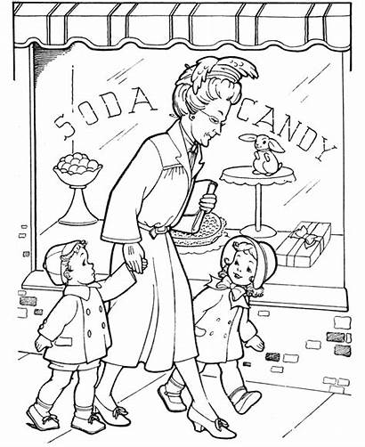 Coloring Grandparents Pages Activities Candy Sheets Children