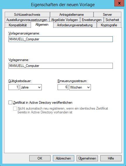 windows pki computerzertifikat manuell anfordern