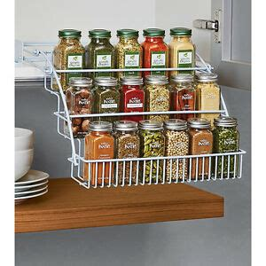Pull Spice Rack By Rubbermaid by Rubbermaid Pull Spice Rack Organizer Shelf Cabinet