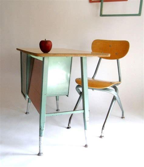 k 4 retro mid century school desk and chair turquoise