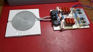 Diy Induction Heater Circuit With Flat Spiral Coil Pancake