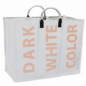 Panier A Linge Blanc : panier linge sale avec 3 compartiments triple ~ Teatrodelosmanantiales.com Idées de Décoration