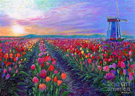 tulip fields what dreams may come painting by small