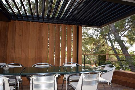 überdachung terrasse alu pergola bioclimatique 224 lames orientables terrasse