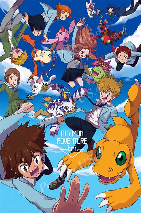 posters usa digimon adventure tri   poster glossy