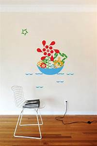 2x4 floral ponctuation giant wall stickers wall With 2x4 stickers