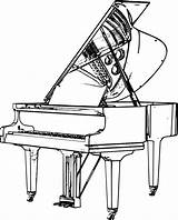 Piano Drawing Clipart Grand Keyboard Harpsichord Sketch Outline Cartoon Upright Note Drawings Transparent Playing Getdrawings Flugel Clipartmag Ex Eps Svg sketch template