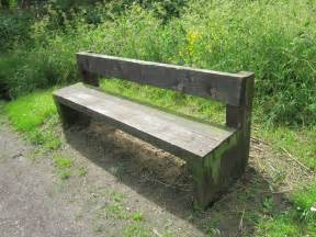 file wooden bench at rivacre country park jpg wikimedia