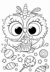 Coloring Pages Owl Unicorn Animal Bojanke Cuties Disney раскраски Lol Printables Bonton Sheets Preschool антистресс Malarboecker Printable Rita Poppy Za sketch template