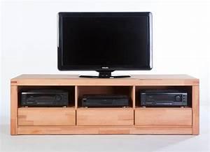 TV Lowboard TV Schrank Fernsehschrank Kernbuche Massiv NEU