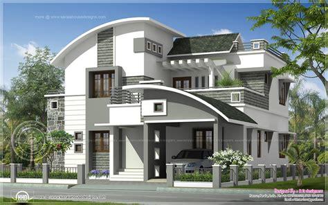 2200 Sqft Modern Villa Exterior  Kerala Home Design And