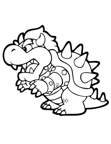bowser coloring page   coloring pages